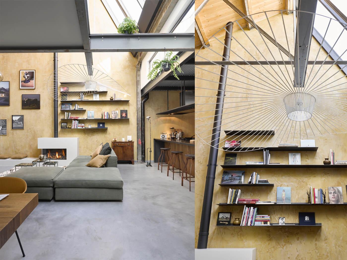 Interior design Tandwielenfabriek Loft Jeroen van Zwetselaar Amsterdam