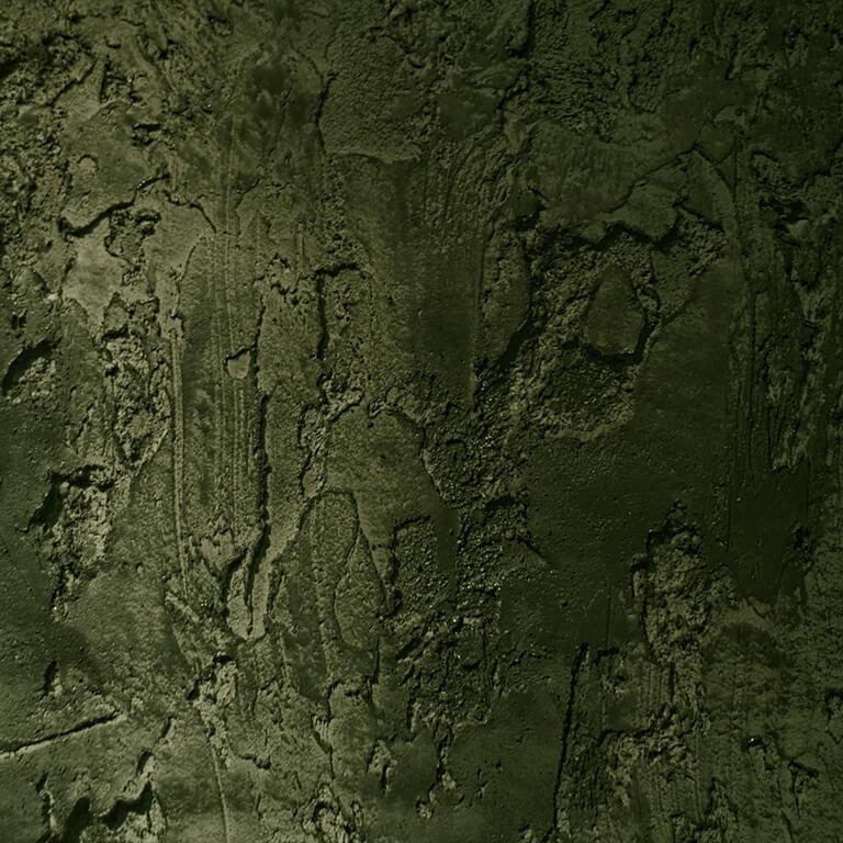Boomschors-stuc donkergroen